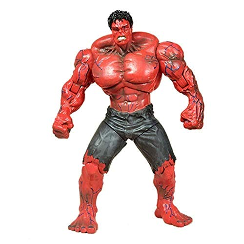 lkw-love Marvel Toys - DC Toys - Action Figure Avengers 3/4-10 Inch Giant Red Hulk - Detachable Birthday Gift Collection for Kid (Color: Red)