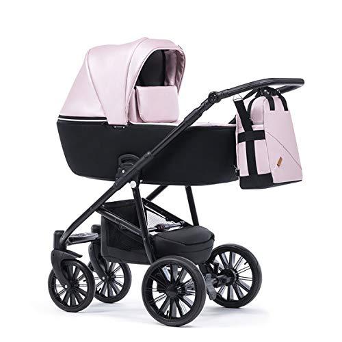 Krausman Kinderwagen 3 in 1 Verano Lux Pink Kombikinderwagen Babyschale Babywanne Sportwagen Design Made In Germany