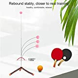 Ping-Pong-Trainingsset, Tischtennis-Trainer Ping-Pong-Bälle Paddel-Set Training Elastische Soft Shaft-Ausrüstung Trainer Übungsball Bulk Child Kid Indoor...