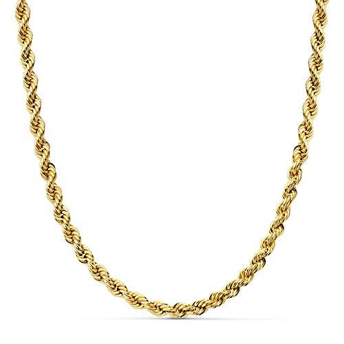 Cordón Salomónico Ligero Oro amarillo 18k 50cm 4mm