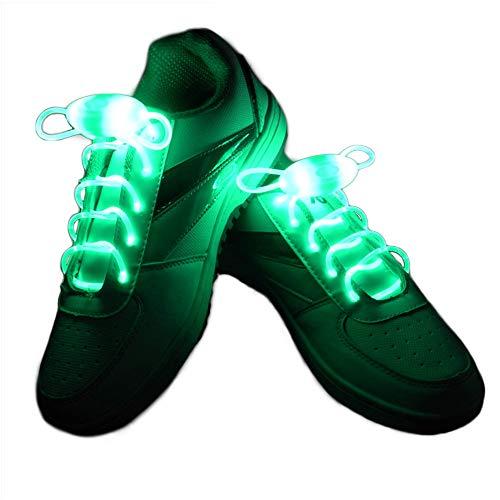 San Zhi 2 Paar LED Schnürsenkel Leuchtender TPU Schuhbänder für Weihnachten, Halloween, Neujahr, Rave Party