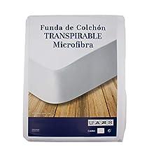 Protector de colchón Transpirable 100% Microfibra, Especial viscoelástico, antiácaros con Cremallera Funda de Colchón - Talla 135 X 190 CM