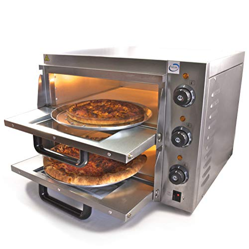 CHEF-HUB Double Deck Stone Base Electric Commercial Pizza Oven 3KW, Pizza maker, Oven Pizza Maker