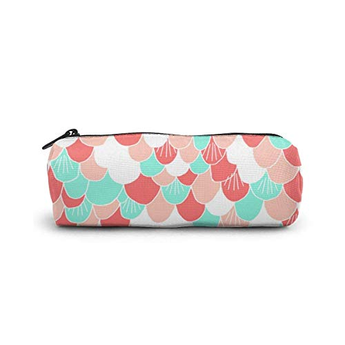 Yuanmeiju Pen Bag Beautiful Colorful Mermaid Scales Mäppchen Glasses Case Tote Cosmetic Bags Eyeglasses Case for Girls Boys Sunglasses Holder with Zipper