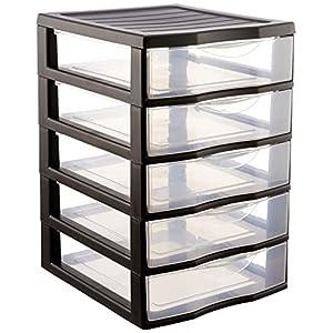 Sundis Orgamix – Mini armadietto con 5 cassetti, in plastica, formato A6, 21 x 18 x 17 cm