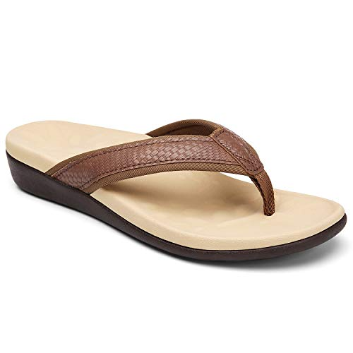 Comfortable Orthopeic Flip Flops for Women, Best Plantar Fasciitis Sandals for Flat Feet with Arch Support, Thong Sandals for Walking/Beach... Size 8