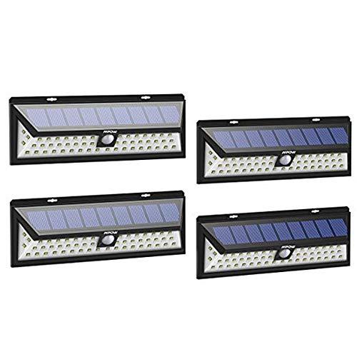 Outdoor-Solarleuchte 54 LED, Solar-Gartenstrahler, 270 ° Weitwinkel, Solarleuchte mit 3 Modi, wasserdicht, bis zu 12 STUNDEN Beleuchtung (4 Stück)