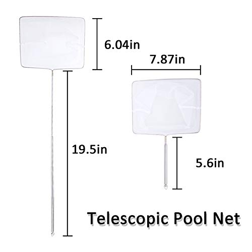 Whaline 4pcs Hot Tub Maintenance Accessory Kit Spa Maintenance Cleaning Kit Contain Pool Net, Scrubbing Brush and Sponge Brush, with a Pair of Gloves