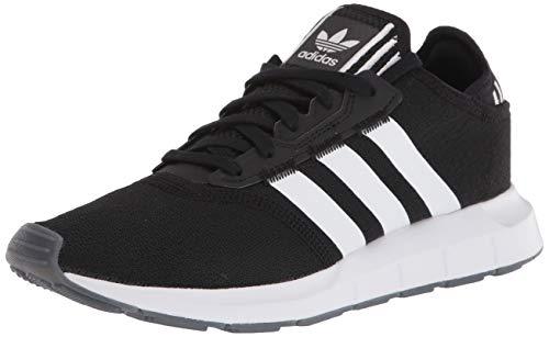 adidas Originals Women's Swift Essential Sneaker, Black/White/Silver, 7.5