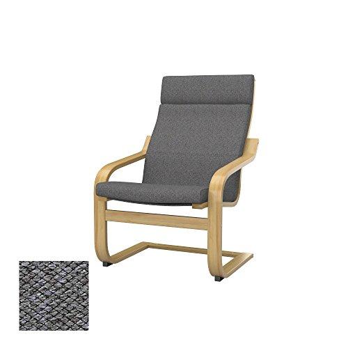 Soferia - IKEA POÄNG Funda para sillón, Nordic Grey