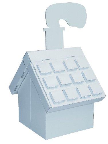 Kreul 39115 - Joypac Bastelkarton Adventshaus, ca. 26,5 x 20,7 x 29,5 cm groß, aus stabiler weißer Pappe, zum bemalen, bekleben und dekorieren, ideal für Kinder