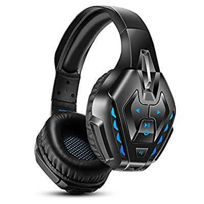 Wireless Gaming Headset, PHOINIKAS Detachable Wired Bluetooth Over Ear Headphone for PS4, Xbox One, PC, Nintendo Switch from PHOINIKAS