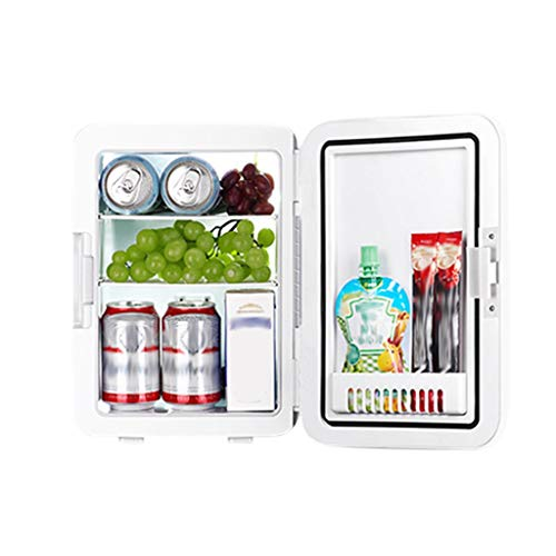 Mini Fridge 10 Liter Compact Portable Personal Cooler and Warmer Small Refrigerators for Bedroom, Car, Office, Dorm, Travel, Skincare, Foods, Beverage, Beer, Medications