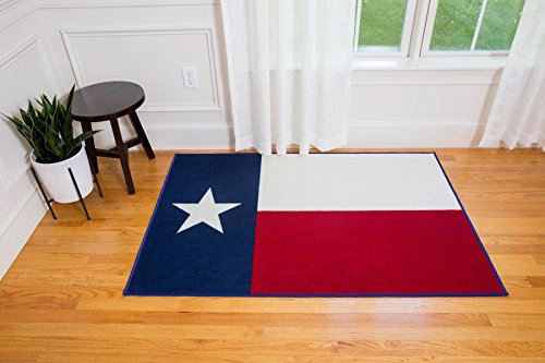 Wildkin Kids 39 x 59 Inch Rug for Boys and Girls, Made From Durable Nylon Material, Features Skid-Proof Backing and Serged Borders, Perfect for Classrooms, Playrooms & Bedrooms, BPA-Free (Texas)