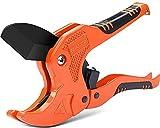 AIRAJ Cortador de PVC Cortador de Tubos Tipo Trinquete para Cortar PVC PPR Mangueras de Plástico y Tuberías de Plomería Adecuado para Herramientas de Electricista y Carpintería (Rojo)