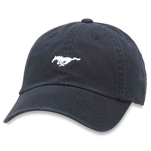 AMERICAN NEEDLE Micro Slouch Casual Baseball Dad Hat Ford Mustang, Black (FORD-1705B)