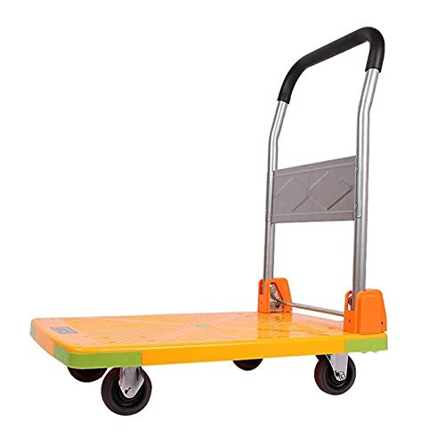 GAONAN Foldable Push Cart, Portable Handling Trolley Platform Cart, Moving Flatbed Tricycle, with Silent Rubber Wheels, Maximum Load 175kg Trolley (Size : 85 * 71 * 47cm)