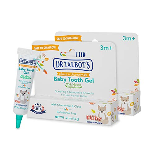 Dr. Talbot's Baby Tooth Gel for Sore Gums, Naturally Inspired, 2 Pack, 1.06 Oz, benzocaine Free, Belladonna Free