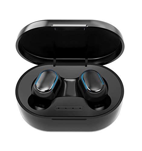 A-myt Cadeaux de Vacances Bluetooth 5.0 Headset Diffusion Casque Bluetooth Headset Casque Mains Libres Sports Earbuds Gaming Linear Casquette Monde de la Musique (Color : Black, Size : A)