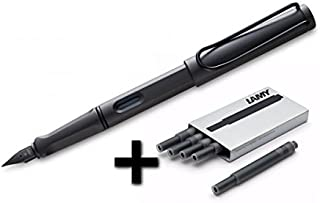 Lamy Safari Fountain Pen (M) Umber + 5 Black Ink Cartridges