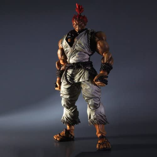 Super Street Fighter IV Play Arts Kai Actionfigur Figur Akuma (Exclusive Weiß Version) 24 cm