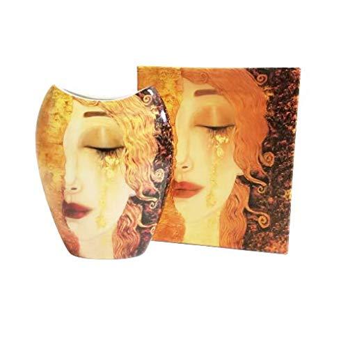 Atelier Harmony Gustav Klimt vaas motief Freya tranen porselein met geschenkdoos