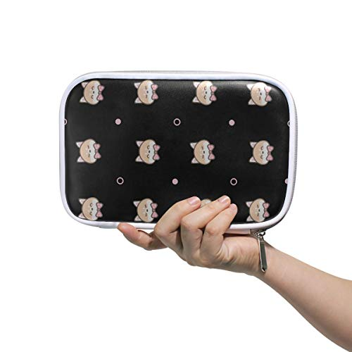 Elegant Pencil Case Seamless Of Cute Cartoon Shiba Inu Face On Cute Makeup Bag Bags Small Makeup Multifunctional Girls Pen Pouch For Men Women