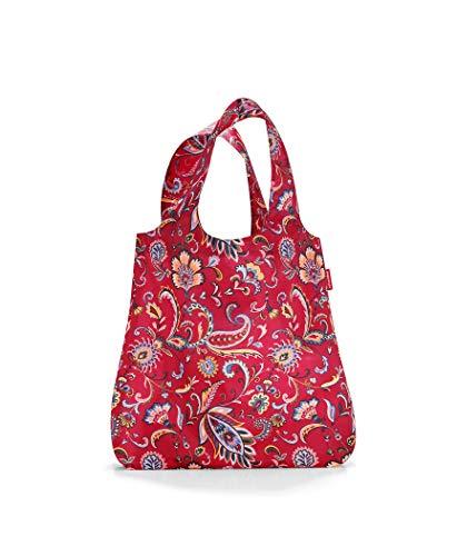 reisenthel AT3067 mini maxi shopper paisley ruby – Einkaufsbeutel mit 15l Volumen bei winzigem Packmaß – B 43,5 x H 63 x T 6 cm