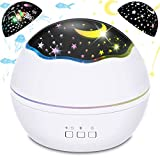 Baby Projector Night Light, BICASLOVE 2 in 1 LED Starry & Ocean Wave