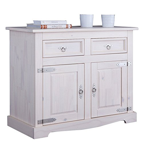 Dressoir dressoir commode Mexicaans grenen massief wit.