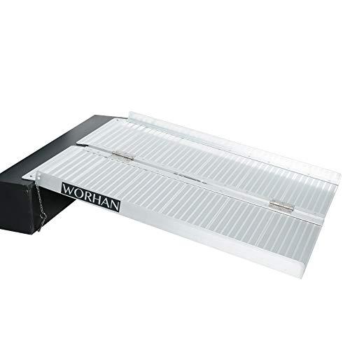 WORHAN® 91cm Rampa Plegable Carga Silla de Ruedas Discapacitado Movilidad Aluminio Anodizado...