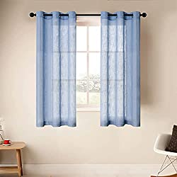 powerful CUTEWIND Transparent bedroom curtain 54 Long sleeves, top layer made of linen mix, structured curtains…