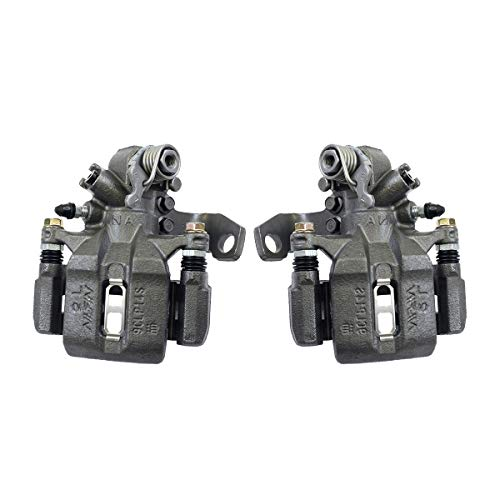 Callahan CCK11319 REAR [2] Premium Grade OE Semi-Loaded Caliper Assembly Pair Set [Honda Civic Coupe and Sedan]