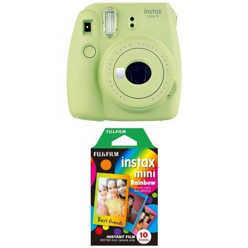 Fujifilm Instax Mini 9 Kamera lime grün mit Rainbow Film