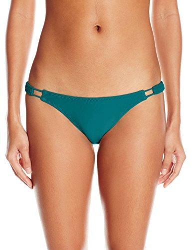 Volcom Women's Simply Solid Full Bikini Bottom, Stormy Blue, X-Small