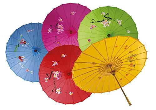 P\'tit Clown62440–Paraguas chino pintado a mano,talla única, color aleatorio , Modelos/colores Surtidos, 1 Unidad