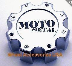 Deal on Wheels Moto Metal 961 8 Lug Center Cap 845L172R New Chrome Wheel Middle W/Bolts