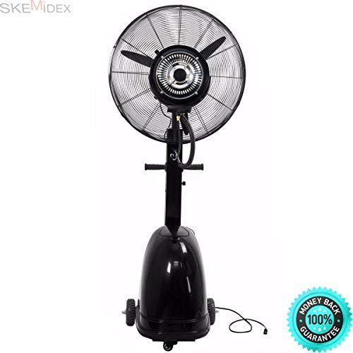 COLIBROX---Home Depot Portable Fans Box Fans Lowes Fans Tower Fans Fans at Home Depot Fans Ceiling Portable Fan Tower and Commercial 26' High-Velocity Outdoor Indoor Misting Fan Black Industrial Cool