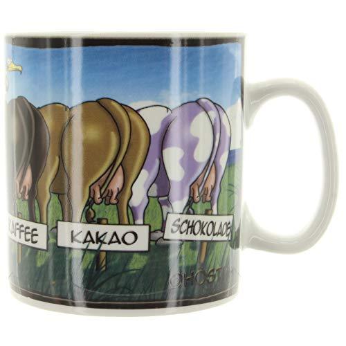 Hösti Jumbo Becher *5 Kühe* Milch - Cappucino - Kaffee - Kakao - Schokolade ...noch Fragen? ca.11x10cm Porzellan 0,5l