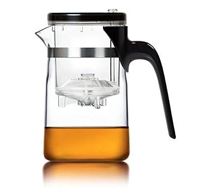 Théière en verre avec infuseur Infuser/Théière en verre avec Technologie Idéal pour la préparation de thé Oolong et thé vert/Compagnon de voyage idéal pour le bureau et comme/Multi avec Infusion de Infuser pour efficace Préparation de Thé