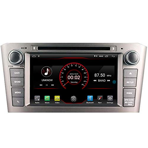 Autosion Android 10 Auto DVD-Player GPS Stereo Headunit Navi Radio Multimedia Wifi für Toyota Avensis T250 2003 2004 2005 2006 2007 unterstützt Lenkradsteuerung