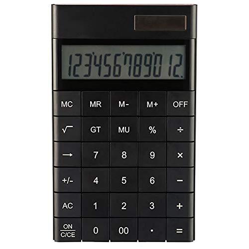 Z·Bling Tischrechner/Taschenrechner,12 Zeichen,große Tasten,Solar,für Schule,Zuhause,Büro,Batterie enthalten,Bedienungsanleitung