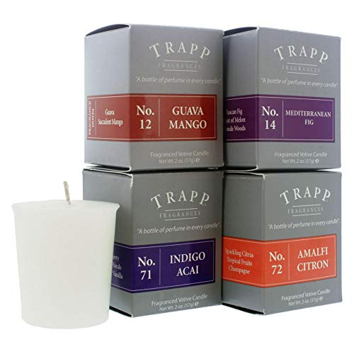 Trapp 2oz Votive Scented Candle Fragrant Fruit Variety, Set of 4