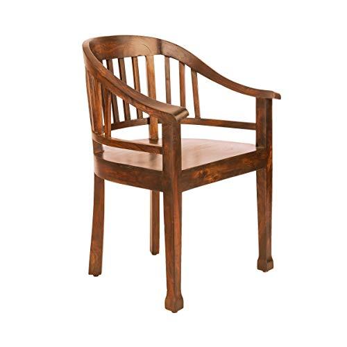 Butlers Hopkins Lehnstuhl - hellbrauner Sessel aus Mangoholz - altenglischer Stil