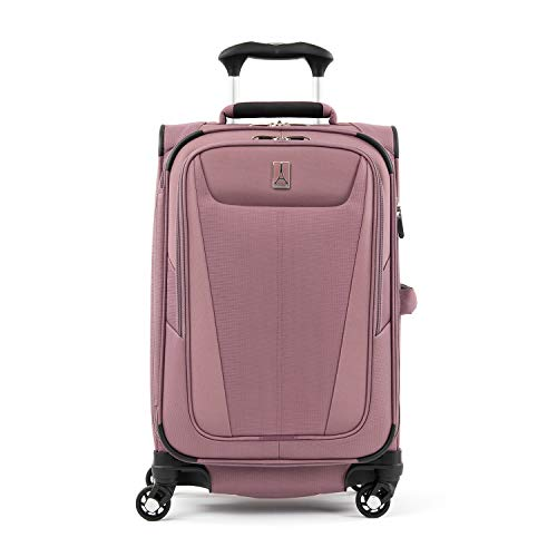 Travelpro Maxlite 5-Softside Expandable Spinner Wheel Luggage, Dusty Rose, Carry-On 21-Inch