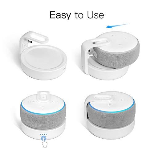 GGMM D3 Echo dot Battery Base, Amazon Echo Dot 3rd Gen Accessories, Alexa Echo Dot Charger(Power Cord and Echo Dot 3rd Generation is Not Included)