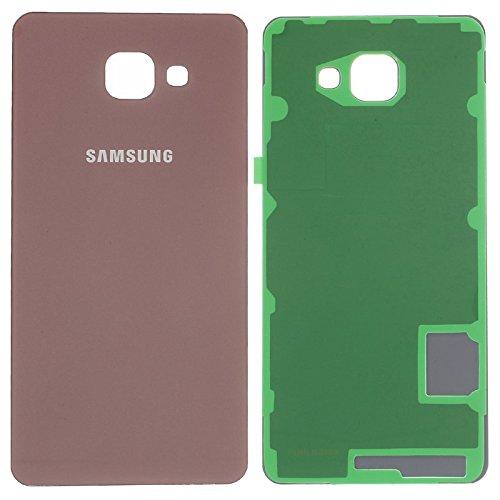 PhoneColors Tapa Trasera para Samsung Galaxy A7 2016 A710 Dorada de Cristal Trasero con Adhesivo Adhesivo