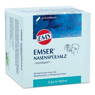 Emser Nasenspülsalz Spar-Set 2x50 Btl. Zur gründlichen Reinigung Ihrer Nase mit natürlichem Emser Salz und Mineralien.