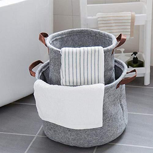 Grijs vouwen kleding opslag wasmand mat handvat kleding kast ruimte om te bed speelgoed opslagsilo's Wash organisator van Binnenlandse Zaken,S,M