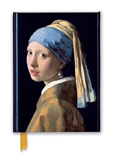 Johannes Vermeer: Girl with a Pearl Earring (Foiled Journal) (Flame Tree Notebooks) (Premium Notizbuch DIN A 5 mit Magnetverschluss)